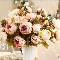 1 bundle  Artificial Silk Peony Bouquets for Wedding Party O