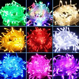 100-600 LED Fairy Lights 10M-100M String Lamp Wedding Party