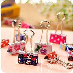 12 Pcs Binder Clips and 2 Pcs Bookmarker and 50 Pcs Paper Cl