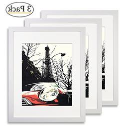 Ohbingo 11 by 14 inch White Picture Frame set of 3 pac