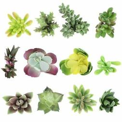 12-Pack Artificial Succulents Fake Faux Plants Unpotted Home