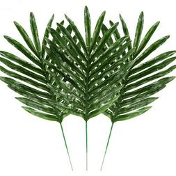 12pcs artificial tropical palm leaves fake plant