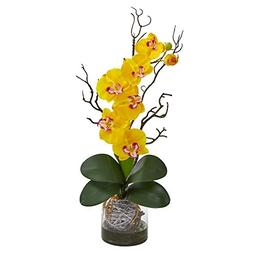 Nearly Natural 1600-YL Phalaenopsis Orchid Artificial Arrang
