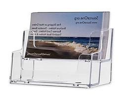 SourceOne 2 Tier Premium Acrylic Clear Business Card Holder,