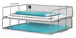 Mindspace 2 Tier Stackable Letter Tray Desk Organizer | The