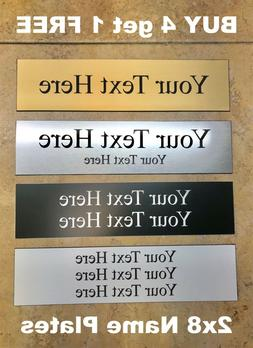 """2"""" X 8"""" NAME PLATE SIGN ENGRAVED FOR OFFICE DESK OR DOOR CUS"""