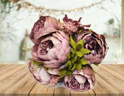 """20"""" Artificial Silk Peony Flowers Bouquets for Wedding Party"""