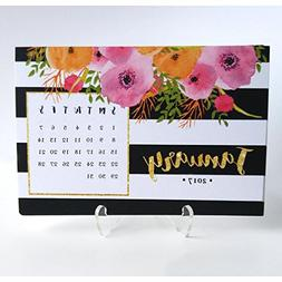 2018 Desk Calendar with Clear Acrylic Stand Black & White St