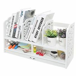 MyGift 23 Inch Freestanding Book Case, 5 Compartments Decora