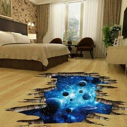 3D Space Cosmic Galaxy Space Sticker Decals Wall Floor Home