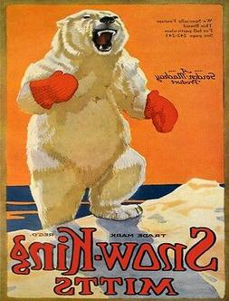 4054.Snow-King mitts, Gordon Mackay product.POSTER.Home Scho