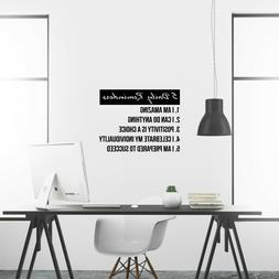 5 daily reminders inspirational wall decal sticker