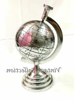 5 inch Aluminium World Map Globe Chrome Finish Antique Home