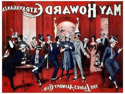 5552.The ladies alimony club.may howard extravaganza.POSTER.