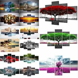5Panel Picture Canvas Painting Modern Art Poster Wall Home O