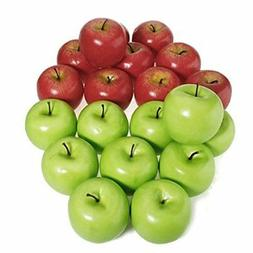 6/12Pcs Artificial Apple Fake Fruit Food Kitchen Office Home