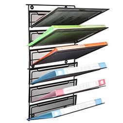 SamStar 6 Tier Hanging Wall File Holder Organizer, Legal / L