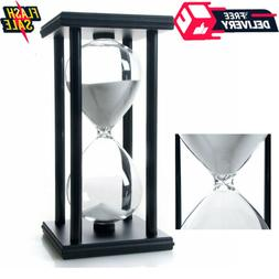60 Minutes Hourglass Wood Sand Timer Great for Decorating Of