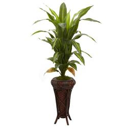 Nearly Natural 6671 Real Touch Dracaena with Stand Silk Plan