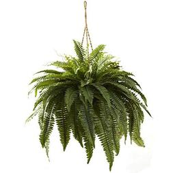 Nearly Natural 6788 Double Giant Boston Fern Hanging Basket