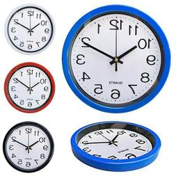 """8"""" Classic Round Wall Clock Silent Sweep Movement Home Offic"""