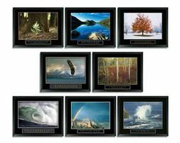 8 Framed Motivational Posters Inspirational Office Decor Col