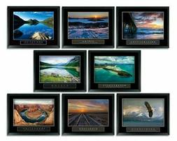 8 Framed Ocean Water Sunset Motivational Posters Complete Of