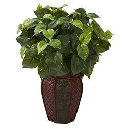 Nearly Natural 8154 Pothos Artificial Plant in Decorative Pl