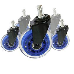 8T8 Rollerblade Office Chair Caster Wheels 3-inch Replacemen