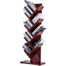 9 shelf tree bookshelf thickened