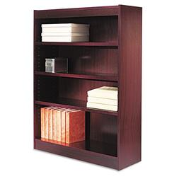 Alera BCS44836MY Square Corner Wood Veneer Bookcase, Four-Sh