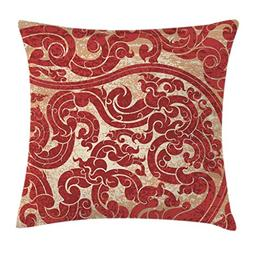 Ambesonne Antique Throw Pillow Cushion Cover, Thai Culture V