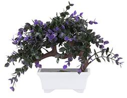 Artificial Bonsai Tree - Fake Plant Decoration, Potted Artif