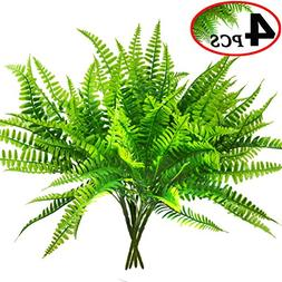 Artificial Boston Fern Bush Plant Shrubs Greenery Bushes for