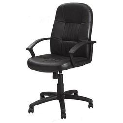 Boss Office Products Boss Black Leather High Back Executive
