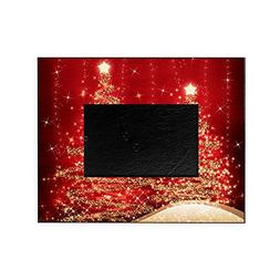 CafePress - Sparkling Christmas Trees Red - Decorative 8x10