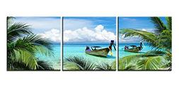 Canvas Print Wall Art Painting For Home Decor Tropical Seasc