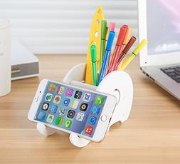 Cell phone Stand,Elephant Pen Holder with Phone Holder Desk