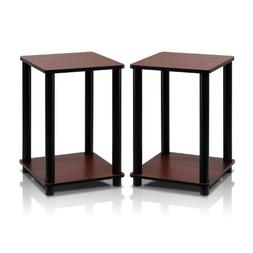 Furinno 2-99800RDC Turn-N-Tube End Table Corner Shelves, Set