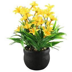 GTIDEA Artificial Potted Plants Daisy Flowers Bonsai Home Ki