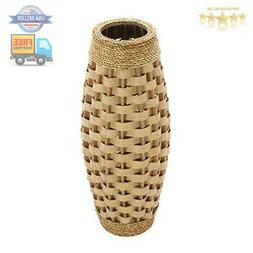 """Hosley's 24"""" High Wood and Grass Floor Vase. Ideal Gift for"""