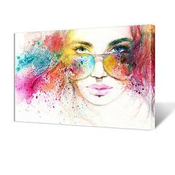 Kreative Arts - Fashion Women Poster Watercolor Painting Con