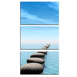 Kreative Arts - Zen Stone Canvas Wall Art Seascape Picture P