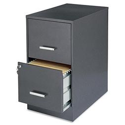 """Lorell Office Dimensions 22"""" Deep 2 Drawer Letter-Sized Meta"""