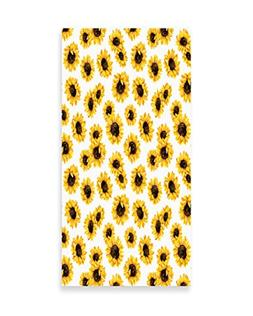Lunarable Sunflower Wall Art, Sunflower Flowers on Polkadots