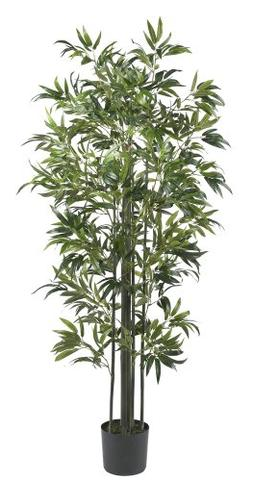 Nearly Natural 5294 Bamboo Silk Tree, 6-Feet, Green