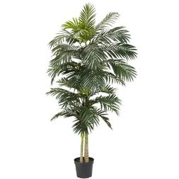 Nearly Natural 5326 Golden Cane Palm Silk Tree, 8-Feet, Gree