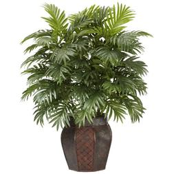 Nearly Natural 6651 Areca Palm with Vase Decorative Silk Pla
