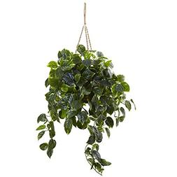 Nearly Natural 6844 Pothos Hanging Basket UV Resistant