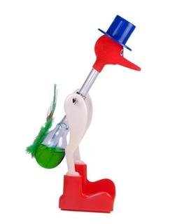 Novelty Glass Drinking Dipping Dippy Bird Toy Red